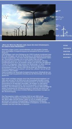 Vorschau der mobilen Webseite www.windparkkonzeption.de, Lüdtke und Scheer OHG