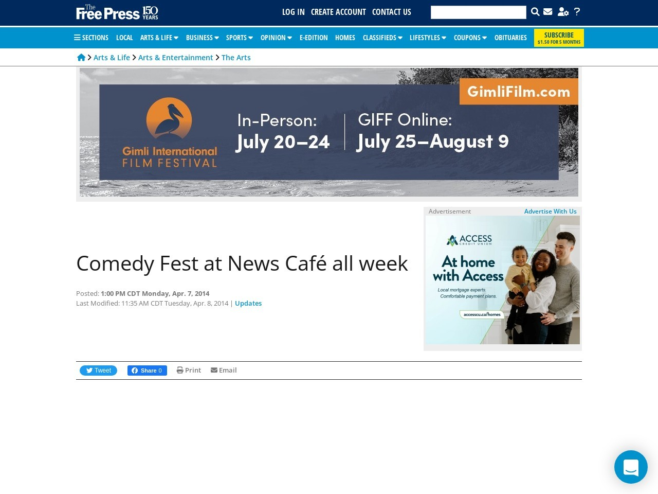 Comedy Fest at News Café kicks off with Kevin McDonald at noon