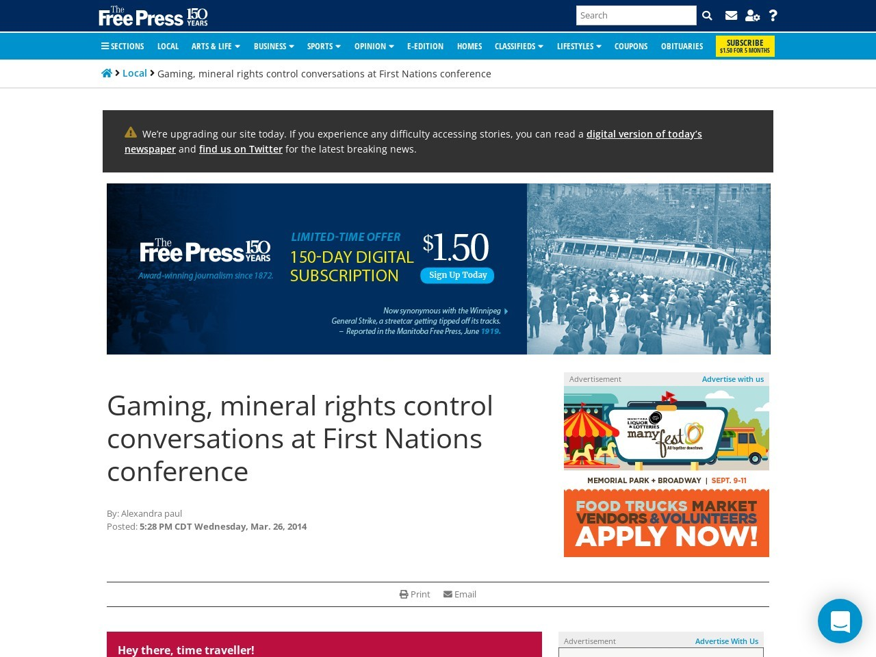 Gaming, mineral rights control conversations at First Nations conference