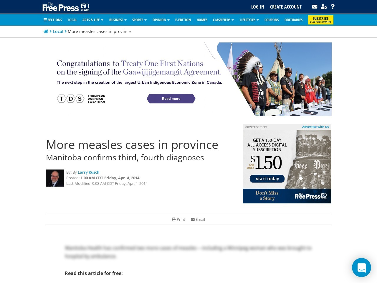 More measles cases in province