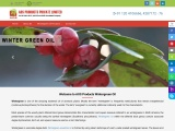 Wintergreen Essential Oil manufacturer, exporter, and Bulk supplier from India