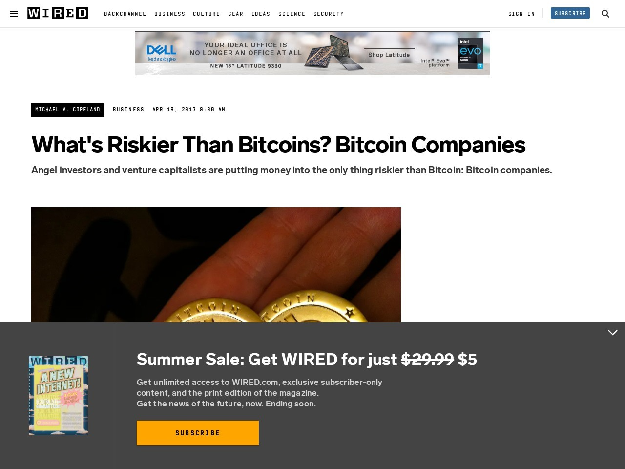 What's Riskier Than Bitcoins? Bitcoin Companies