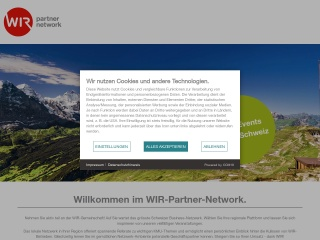 Screenshot der Website wirgruppebern.ch