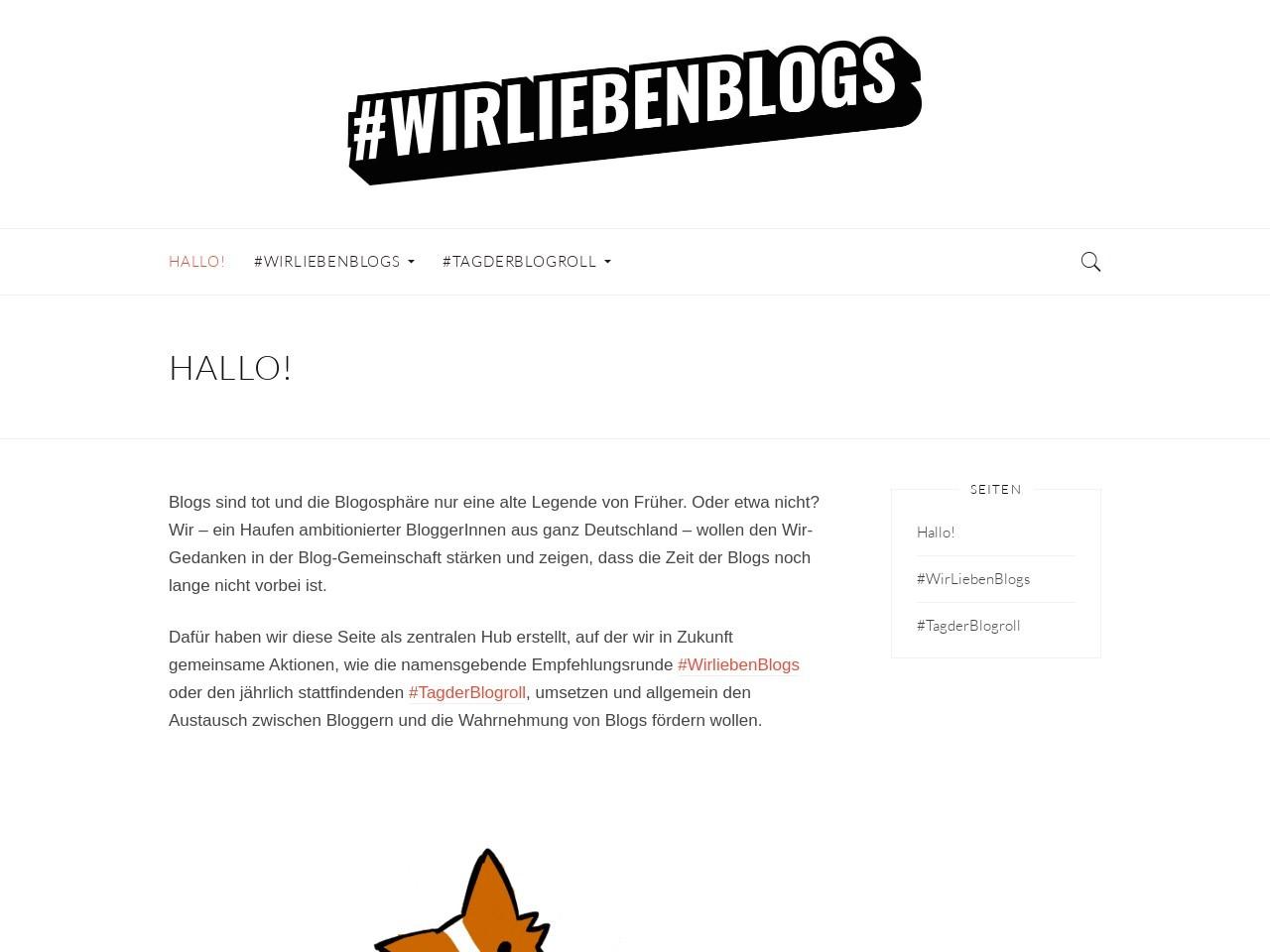 Heute ist Tag der Blogroll | Bloggerei | Was is hier eigentlich los?