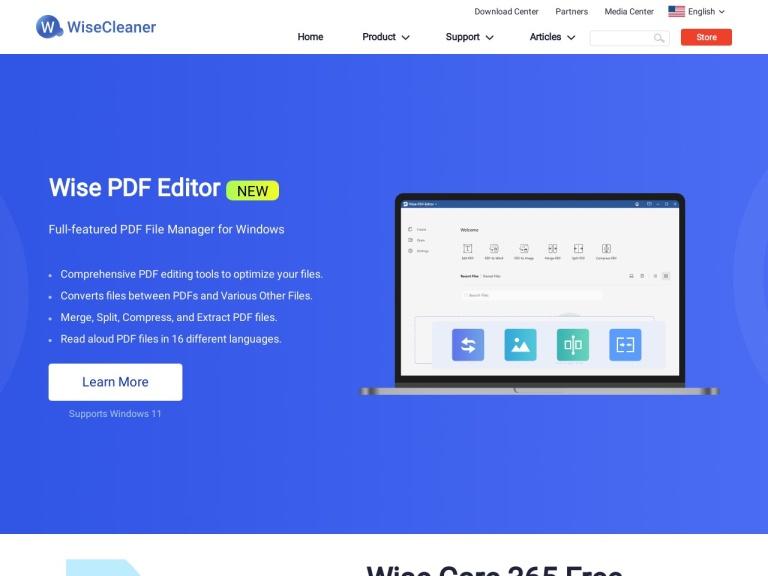 WiseCleaner screenshot