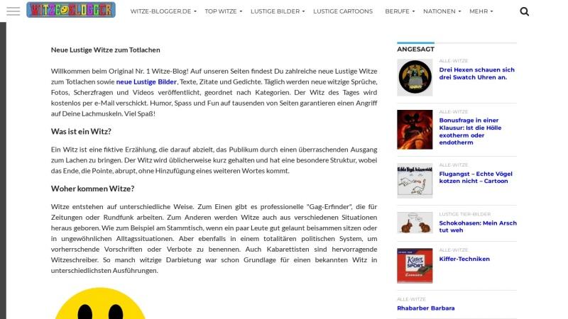 www.witze-blogger.de Vorschau, Witze-Blogger.de - lustige Witze & lustige Bilder