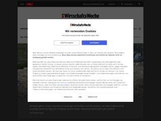 Screenshot der Website wiwo.de