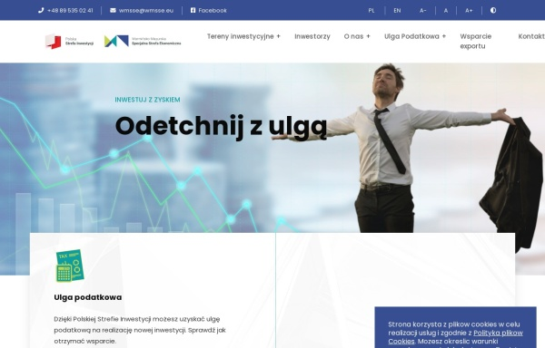 Vorschau von www.wmsse.com.pl, Ermländisch-Masurische Ökonomische Sonderzone AG