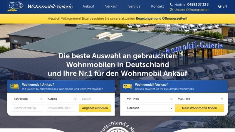 www.wohnmobil-galerie.de Vorschau, Wohnmobil-Galerie GmbH