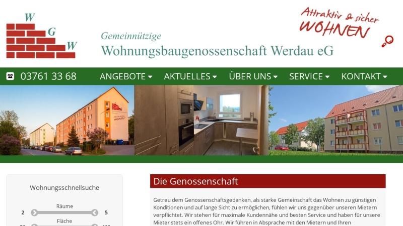 www.wohnungsbaugenossenschaft-werdau.de Vorschau, Gemeinnützige Wohnungsbaugenossenschaft Werdau e. G.