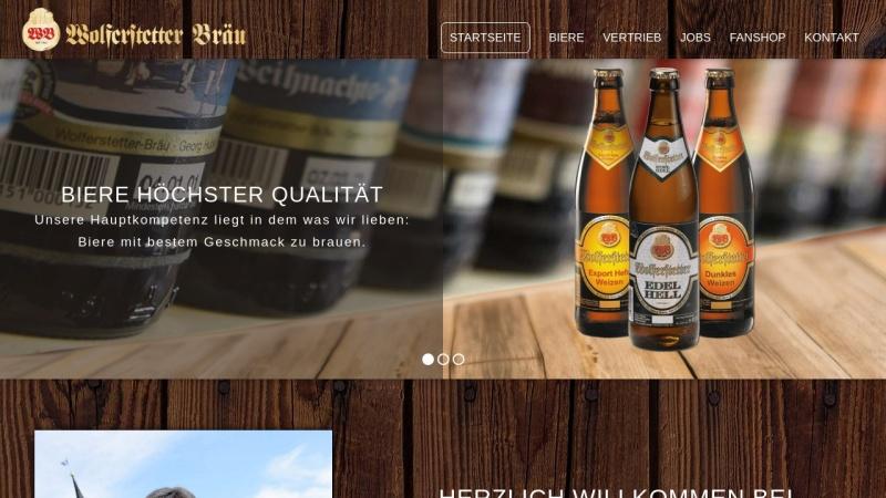 www.wolferstetter.de Vorschau, Brauerei-Wolferstetter