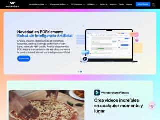 Captura de pantalla para wondershare.com.mx