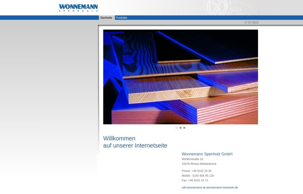 Vorschau von www.wonnemann-holzwerk.de, Gerhard Wonnemann GmbH