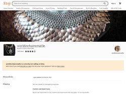 Worldinchainsmaille Etsy coupon codes December 2017