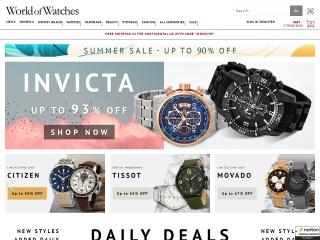 screenshot worldofwatches.com