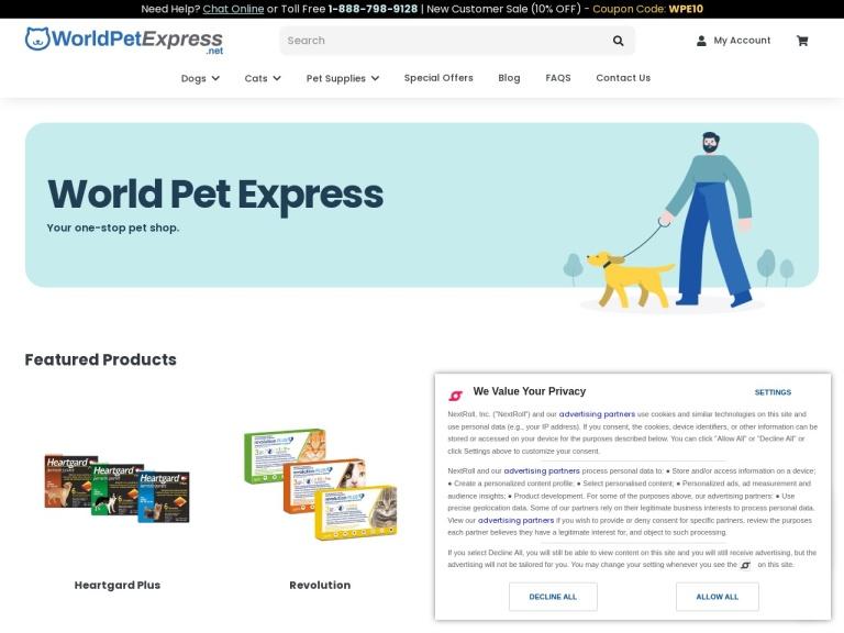 WorldPetExpress screenshot
