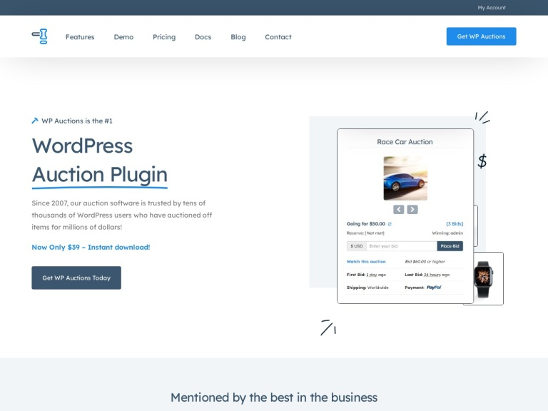 WP Auctions Coupon Codes screenshot