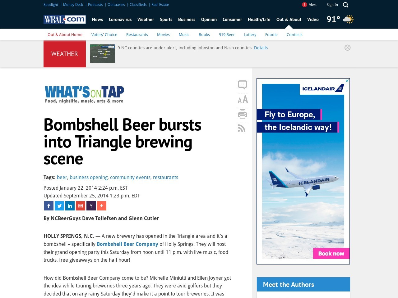 Bombshell Beer bursts into Triangle brewing scene