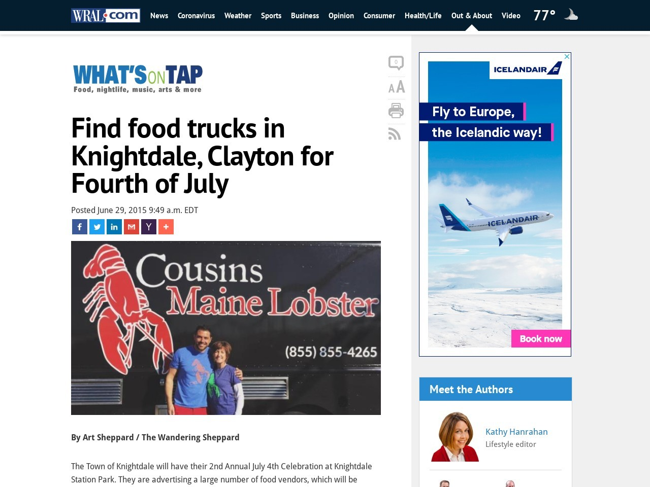 Find food trucks in Knightdale, Clayton for Fourth of July