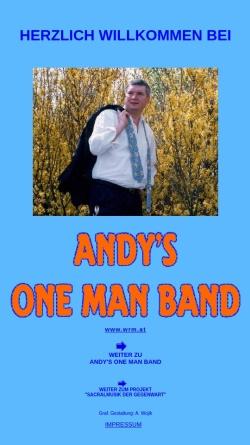 Vorschau der mobilen Webseite www.wrm.at, Andys Ein-Mann-Band