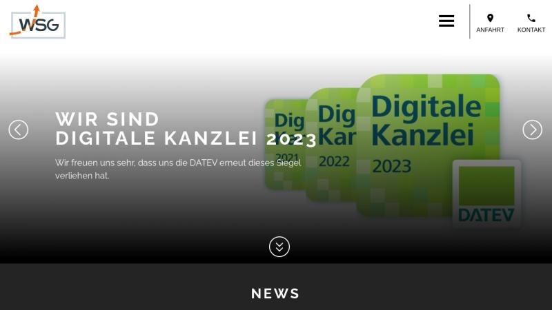 www.wsg-bielefeld.de Vorschau, WSG - Wirtschaftsberatung Steuerberatungs Gesellschaft