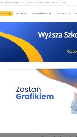Vorschau der mobilen Webseite www.wsi.edu.pl, Hochschule für Informatik und Management Bielsko-Biala
