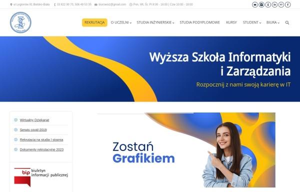 Vorschau von www.wsi.edu.pl, Hochschule für Informatik und Management Bielsko-Biala