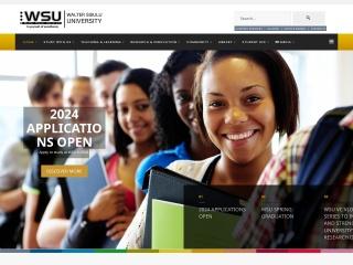 Screenshot for wsu.ac.za