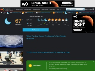 screenshot wunderground.com