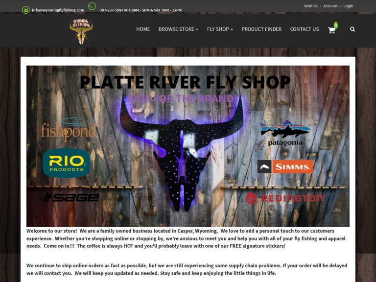 WyomingFlyFishing.com screenshot