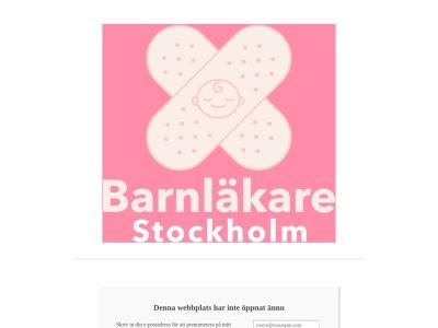 www.barnläkarestockholm.nu