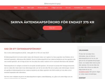 www.äktenskapsförord.nu