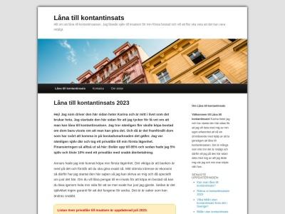 www.lånatillkontantinsats.nu