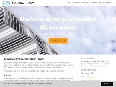 www.markisertäby.se