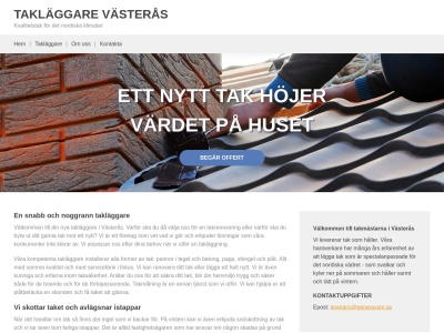 www.takläggarevästerås.biz