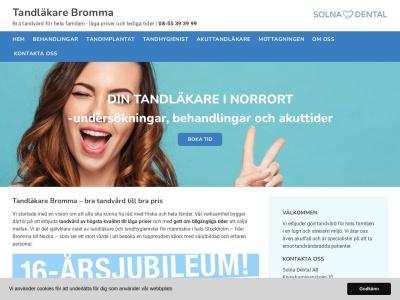 www.tandläkarebromma.nu