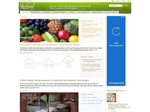 yaacool-bio.de: Das Online-Portal rund um Umweltschutz, Bio und Nachhaltigkeit