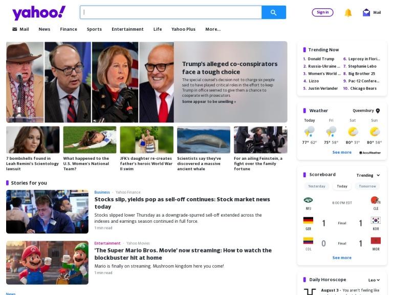 Yahoo! Affiliate Program screenshot