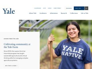 screenshot yale.edu