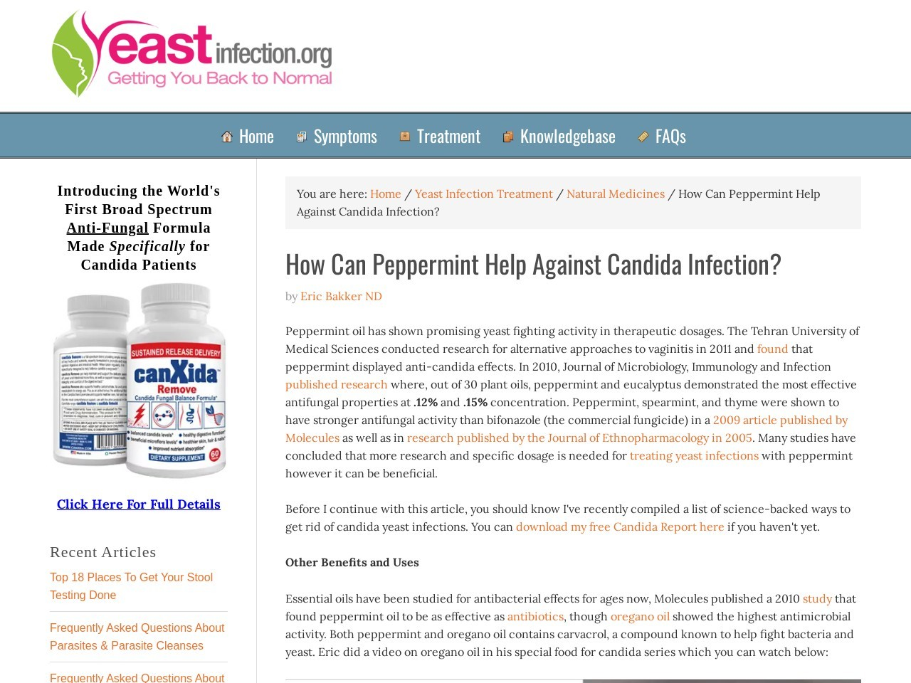 How Can Peppermint Help Against Candida Infection?