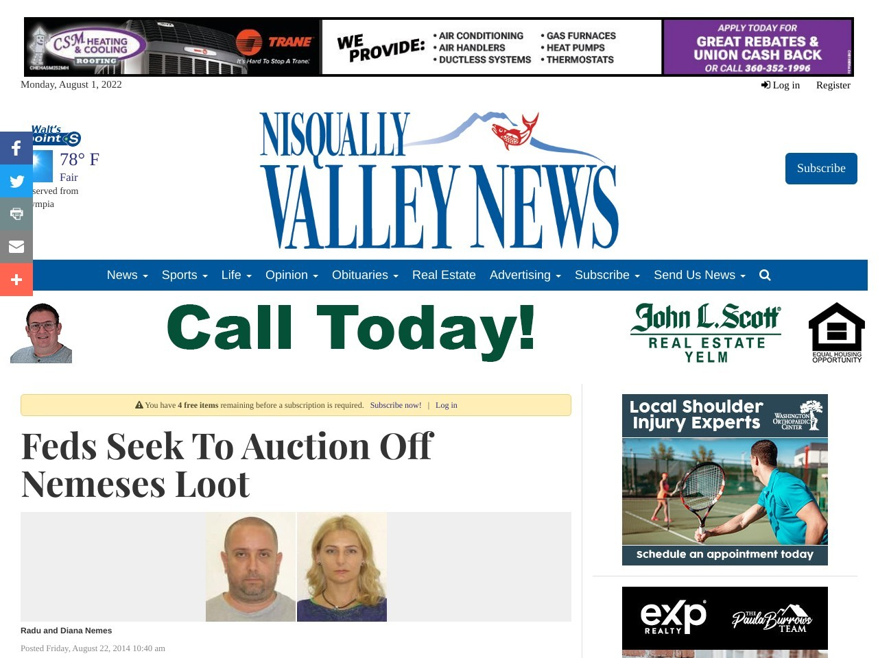 Feds Seek To Auction Off Nemeses Loot