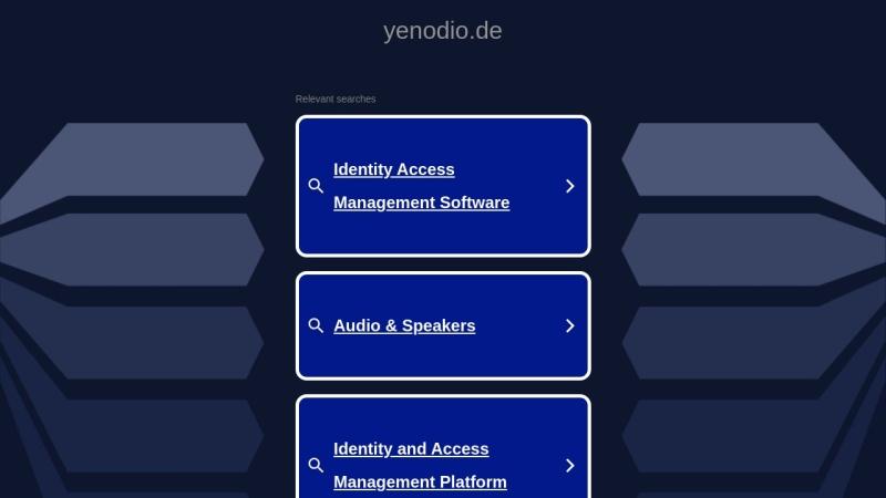 www.yenodio.de Vorschau, Yenodio Blog