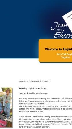Vorschau der mobilen Webseite www.yes-englishservices.de, YES Your English Services