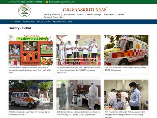 YSN – Healthy India Drive Gallery