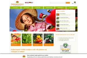 Schermafbeelding Zadenkopenonline.nl