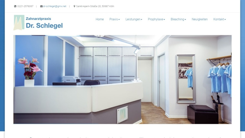 www.zahnarzt-schlegel.de Vorschau, Zahnarzt Dr. Gregor Schlegel aus Köln
