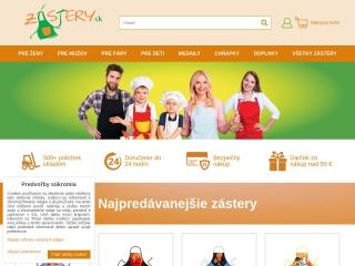 Screenshot stránky zastera.sk