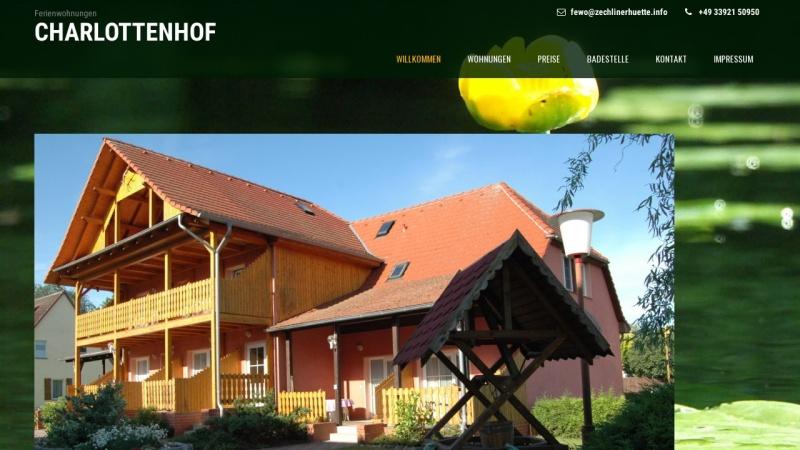 www.zechlinerhuette.info Vorschau, Ferienwohnungen