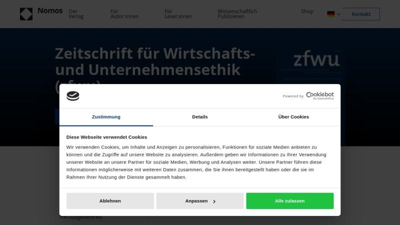 www.zfwu.de Vorschau, Zeitschrift für Wirtschafts- und Unternehmensethik