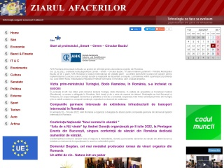 Screenshot al site-ului ziarul-afacerilor.ro
